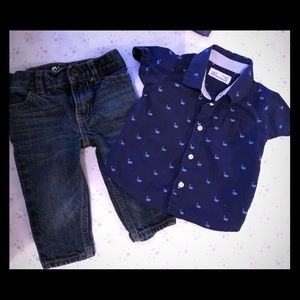 Outfit for a baby boy
